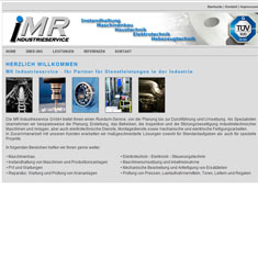 Webseite MR Industrieservice
